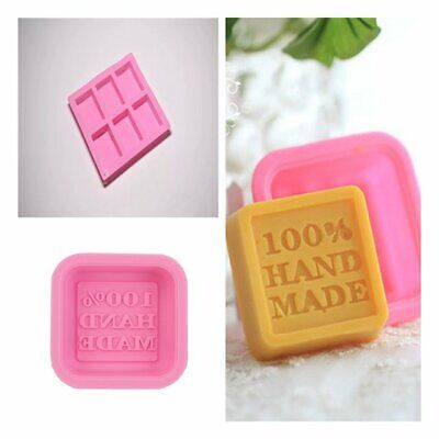 Cube Soap Mold Silicone  Ice Chocolate Mould Tray Homemade Making DIY Tool