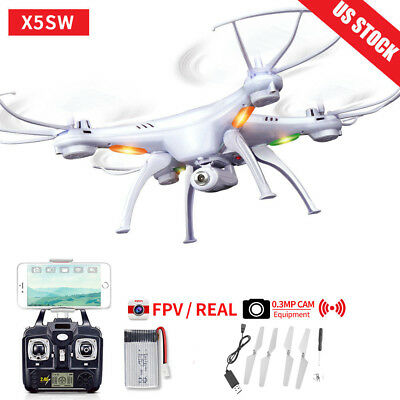 X5SW 2.4Ghz 6-Axis Gyro RC Quadcopter Drone UAV RTF UFO with HD Camera US AS