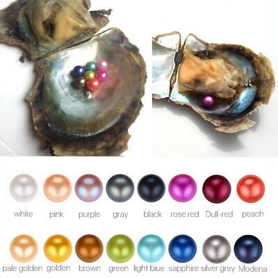 Akoya Oyster Contain Round Pearls At Least 1 In Every 6-8mm Unicorn Color 1/3PCS