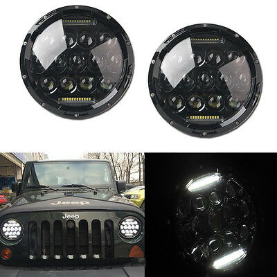 2X7Inch LED Headlight Bulb DRL Driving for 97-16 JEEP JK TJ LJ Dodge GMC Hummer