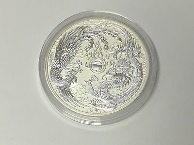 2017 Dragon and Phoenix 1 oz Silver Coin - Perth Mint in Capsule