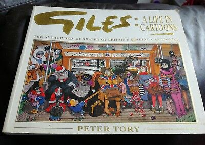 Giles A Life In Cartoons Biography Peter Tory Paperback 1993