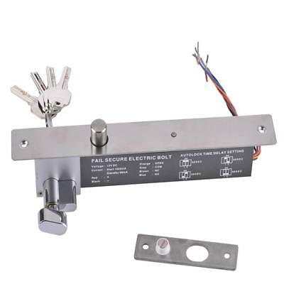 DC12V Electric Drop Bolt Door Lock NO Mode Low Temperature Lock with Key