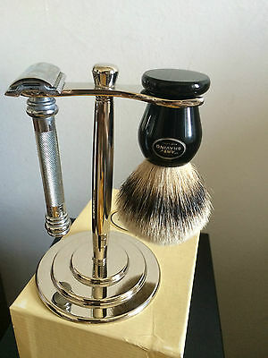The Art Of Shaving Stand For Razor And Brush (Not Included) Nickel Mirror Polish