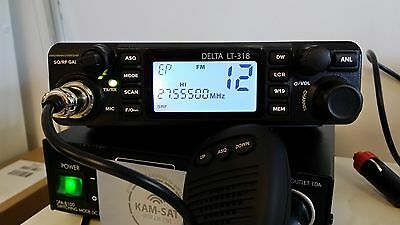 CB MOBILE RADIO AM FM  DELTA LT-318 MULTI BAND Frequency Range VHF: 25.615-30.10
