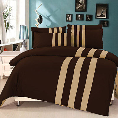 Twin Patchwork Reversible Duvet Set with Fitted 1000TC Egyptian Cotton All Color