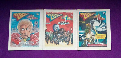 2000AD 1978 - progs 94, 95 & 96 - VG+/close to mint