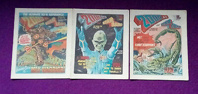 2000AD 1978 - progs 91, 92 & 93 - VG+/close to mint