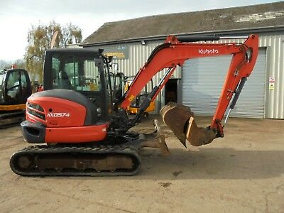 Kubota KX057-4 Digger Excavator Quick Hitch 3 Buckets Air Con