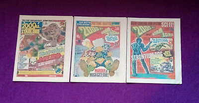 2000AD 1978 - progs 88, 89 & 90 - VG+/close to mint