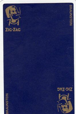"RARE MINT ""Zig-Zag (Blue Card) Cigarette Papers"" SINGLE Playing Card"