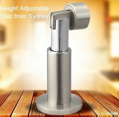 Stainless Steel Magnetic Door Stop Stopper Holder Catch Heavy Duty Height Adjust