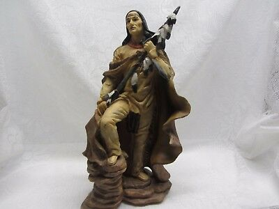 Native Indian Statue Figure Figurine Indio American North Southwest Decor