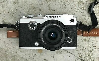Olympus PEN-F camera with 14-42mm 1-3.5-5.6 EZ Lens Kit - Silver