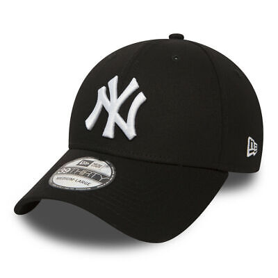 New Era Mens 39Thirty Baseball Cap.mlb New York Yankees Stretch Fit Black Hat 38