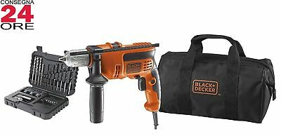 Trapano a percussione Black&Decker CD714CREW2 punte Borsa Avvitatore Accessori