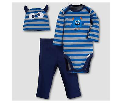 Gerber Baby Boys 3 Piece Outfit NEW Adorable Monster Various Sizes