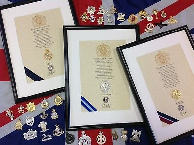 Oath of Allegiance  -  British Army Corps (unframed, printed Cap Badge)