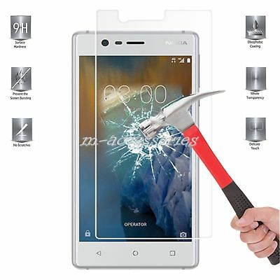 100% Genuine Tempered Glass Screen Protector Guard For Nokia 3