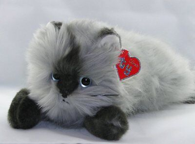 "Ty Classic Plush Smokey the Gray Himalayan Cat NWT 15"" 20th Anniversary"
