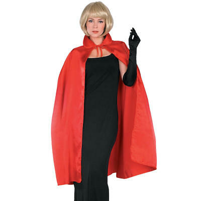 """RED SATIN CAPE Unisex Adult 45"""" One Size NEW in PACKAGE Price Slash!!!"""