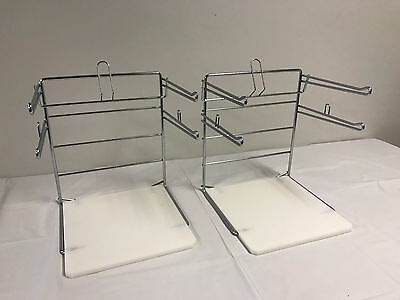 NEW Two (2) T-SHIRT BAGGING STAND RACK HOLDER IN CHROME FINISH