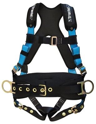 Tractel Large Belted Fall Protection Harness Tongue / Buckle Legs with Padding