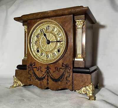 Antique 1895 Seth Thomas Adamantine Clock RESTORED