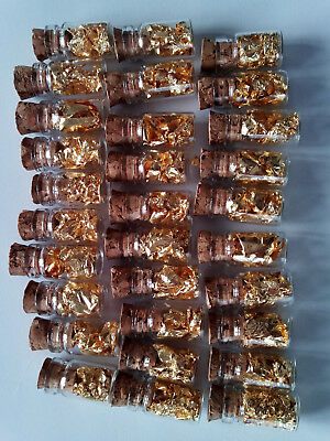 or  feuilles d'or  fiole d'or 24 carat  40 pieces