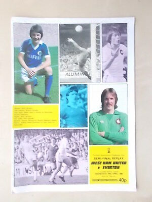 WEST HAM v EVERTON - FA CUP SEMI FINAL REPLAY - PROGRAMME 1980
