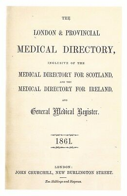 London and Provincial Medical Directory(1861) on pdf DVD