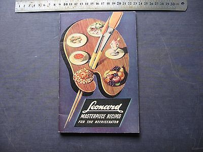 Leonard Refigerator  MASTERPIECE RECIPES
