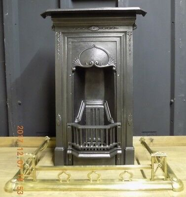Cast iron fireplace, Antique, Edwardian, Victorian, dated c.1898