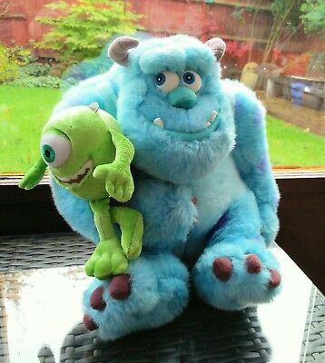 Monsters Inc Sully and Mike Plush Soft Toy Bundle 30cm's in BN 100% Authentic