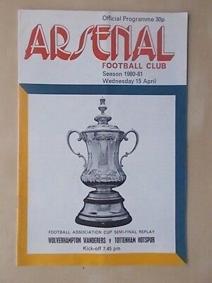 WOLVES v TOTTENHAM - FA CUP SEMI FINAL REPLAY - PROGRAMME 1981