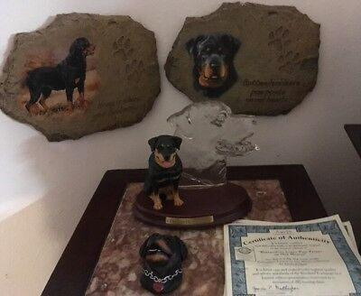 The Bradford Exchange Faithful Friend Rottweilers Gentle Giants Collection  COA