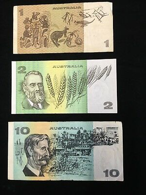 AUSTRALIA Paper Money Lot OF 3 NOTES