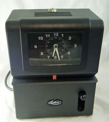 Latham 2121 Heavy Duty Manual Time Clock Recorder Includes Key and Instructions