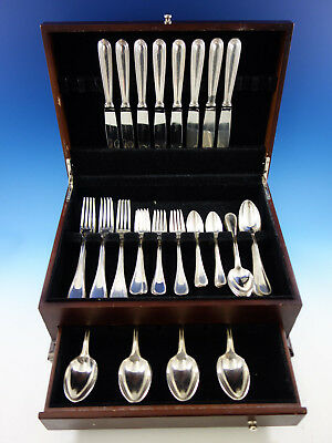 Perles by Christofle France Silverplate Flatware Set for 8 Dinner Service 48 pcs