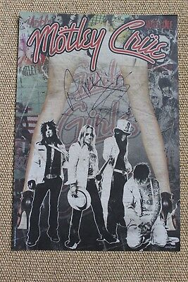 Motley Crue The Final Tour Lithograph Autographed Signed by Nikki Sixx 1/5000