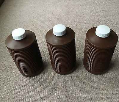 3 X 1 Litre Darkroom Chemical Bottles - Made In Germany