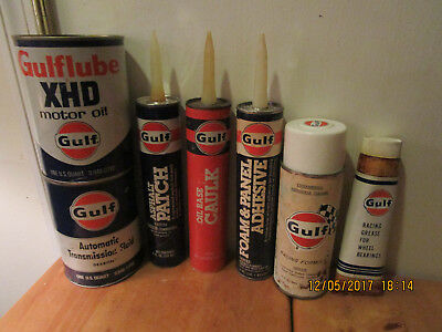 Gulf Oil Can Racing Lot Collection x 7