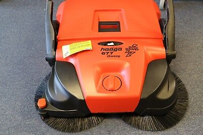 "Haaga 31"" Commercial Series Cordless Battery Powered Triple Brush Sweeper Broom"