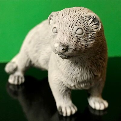 Ferret figurine marble chips sculpture Souvenirs from Russia favorite animal pet