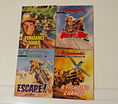 LOT of 4 Commando War COMICS  1683....'84.....'86....'87...BARGAIN Prices!!!!!