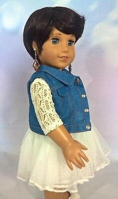 "10-11 Custom Doll Wig fit Blythe-American Girl-1/4 Size ""Chocolate Cinnamon"" bn7"