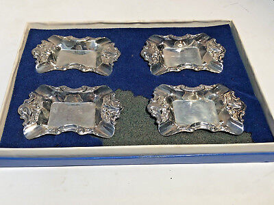 Baroque Silver Plate By Wallace Ashtray Or Butter Pat Dish 733 Set Of 4