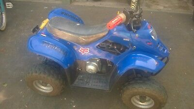 Used Quad bike 70cc blue Goes well