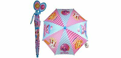 New Shopkins Kids Umbrella Girls Parasol Paraguas - Blue