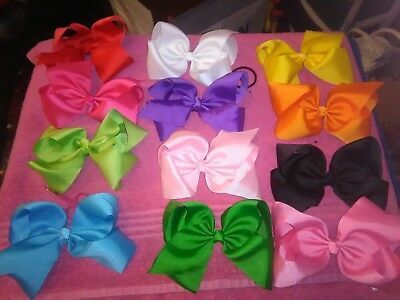 Lot of 10 lg boutique Hairbows hair bow ONLY $2.50ea